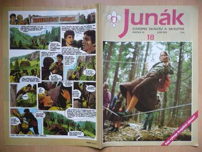 Časopis - Junák - ročník 34. - číslo 18. - Září 1991