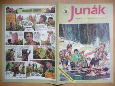 Časopis - Junák - ročník 34. - číslo 21. - Listopad 1991
