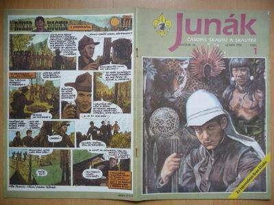 Časopis - Junák - ročník 35. - číslo 1. - Leden 1992