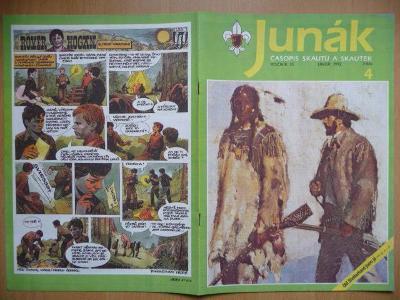 Časopis - Junák - ročník 35. - číslo 4. - Únor 1992