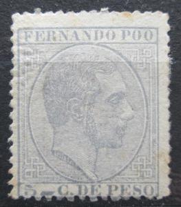 Fernando Poo 1882 Král Alfons XII. Mi# 7 Kat 55€ 0030