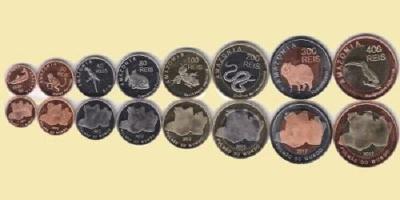 Amazonia 2012 sada 8 mincí UNC RL