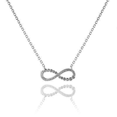 Stříbrný náhrdelník (925/1000) Nekonečno se zirkony