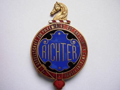 Odznak - stajňa Richter R-U. Vzácny
