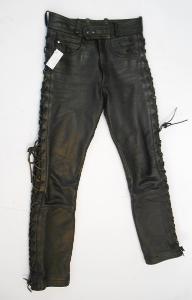 Kožené Kalhoty šněrovací Hein Gericke Vel. 44 pas: 74 cm