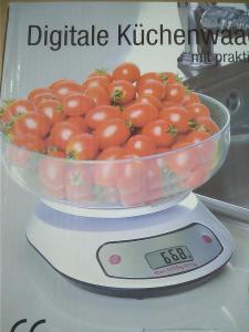 Digitální kuchyňská váha + miska, max 5 Kg, 1g - 2.jakost (BC 289 Kč )