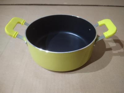 Hliníkový rendlík 14 cm - zelený - Poškozené (BC 199 Kč)
