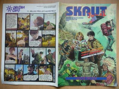 Časopis - Skaut - Junák - ročník 38. - číslo 1. - Leden 1995