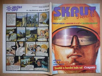 Časopis - Skaut - Junák - ročník 38. - číslo 2-3. z roku 1995