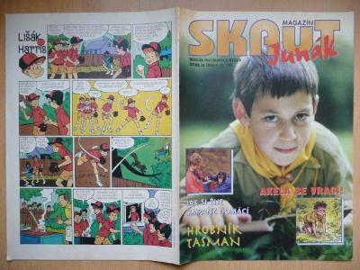 Časopis - Skaut - Junák - ročník 38. - číslo 4-5. z roku 1995