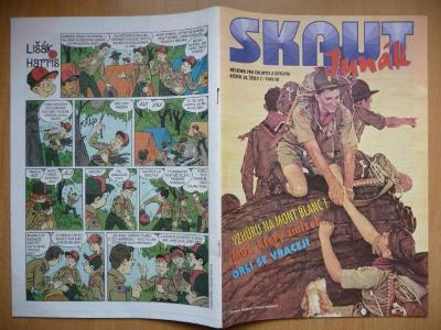 Časopis - Skaut - Junák - ročník 38. - číslo 7. z roku 1995-96