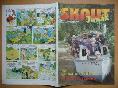 Časopis - Skaut - Junák - ročník 38. - číslo 10. z roku 1995-96