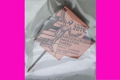 Odznak Medzinárodný maratón mieru Košice 6. október 2019