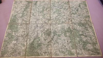 Vojenská mapa 1930 Jindř.Hradec-Blažejov-Hůrky-Kardašova-zaniklé vesni