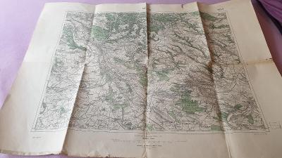 Vojenská mapa 1924-Mělník-Byšice-Benátky-Mšeno-Štětí-zaniklé vesnice