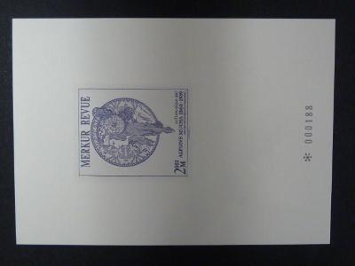 příl. tisk Merkur Revue 2003 - Mucha - číslovaný
