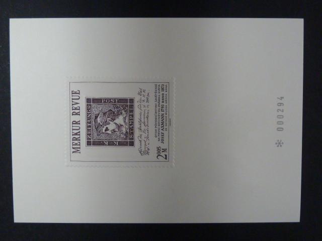 příl. tisk Merkur Revue 2005 - Axmann - číslovaný - Filatelie