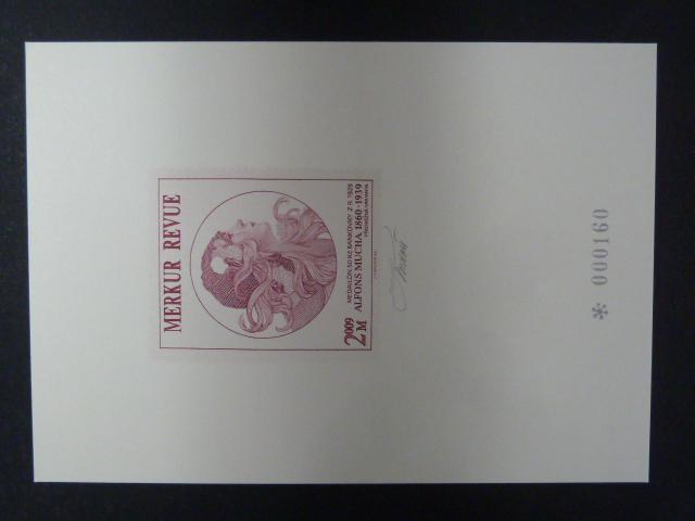 příl. tisk Merkur Revue 2009 - Mucha - číslovaný - signovaný - Filatelie