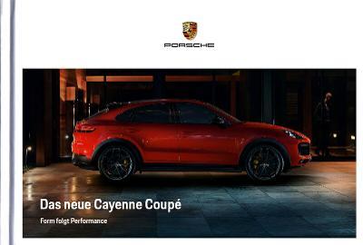Porsche Cayenne Coupe model 2020 prospekt 05 / 2019 DE