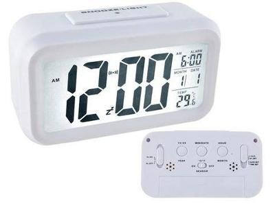 Budík LED displej 12 / 24h Teplota alarmu Datum 3xAAA + dárek