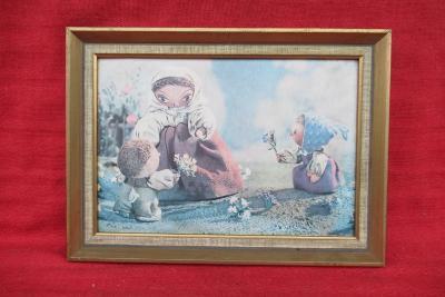 Starý pěkný obraz - pohádka Broučci - tisk