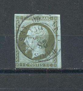 FRANCIE 1860  YVERT  11    RAZÍTKOVANÁ