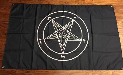 Mega Baner Velká vlajka SATAN 666