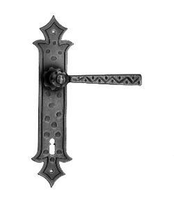 GALBUSERA Kovaná klika na dveře model 501 - železo, antická černá
