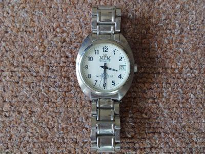 Pánské do 30m vodotěsné náramkové hodinky MPM nefunkční