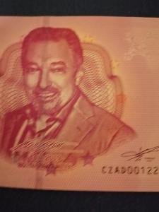 Karel Gott 0 eur bankovka s. č. 1222