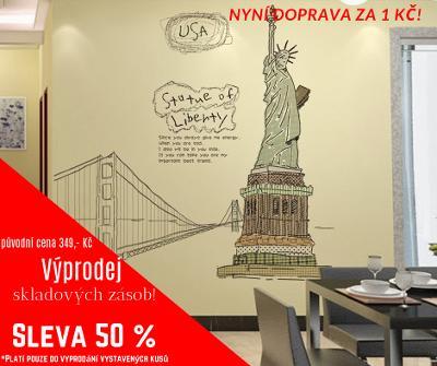 Socha Svobody - Samolepka na zeď