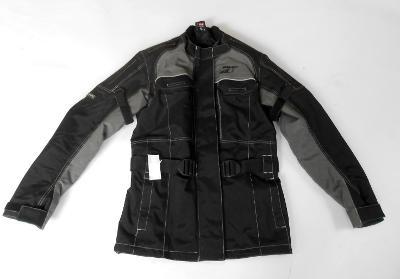Textilní dámská bunda ROAD vel. S- chrániče, reflexní prvky