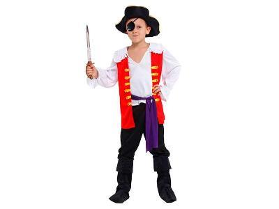 Karnevalový kostým PIRÁT vel. 110 - 120 cm