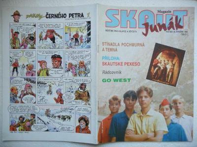Časopis - Skaut - Junák - ročník 36. - číslo 1. z března roku 1993