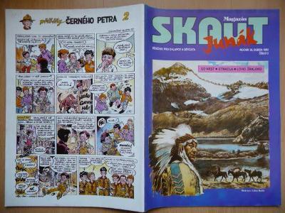 Časopis - Skaut - Junák - ročník 36. - číslo 2. z dubna roku 1993