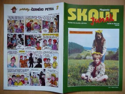 Časopis - Skaut - Junák - ročník 36. - číslo 3. z května roku 1993