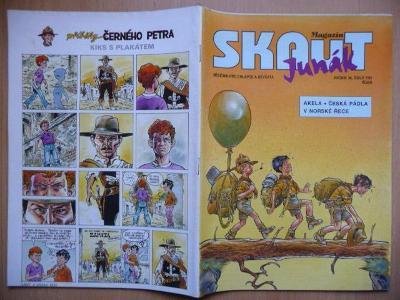 Časopis - Skaut - Junák - ročník 36. - číslo 7. z října roku 1993
