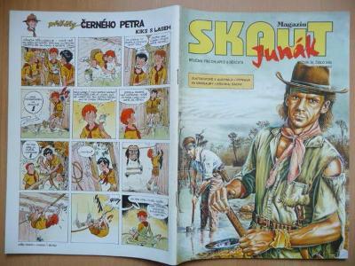 Časopis - Skaut - Junák - ročník 36. - číslo 8. z listopadu roku 1993