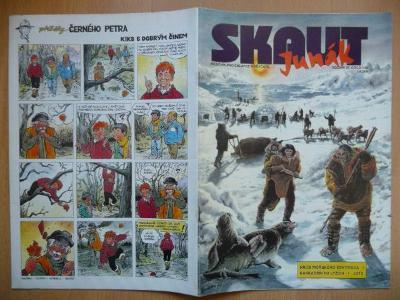 Časopis - Skaut - Junák - ročník 37. - číslo 1. z ledna roku 1994