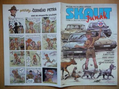 Časopis - Skaut - Junák - ročník 37. - číslo 4. z dubna roku 1994