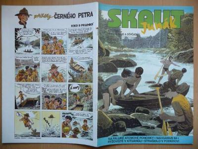 Časopis - Skaut - Junák - ročník 37. - číslo 5. z května roku 1994