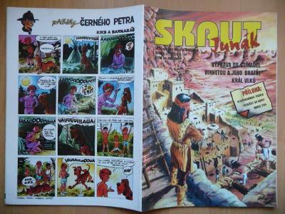 Časopis - Skaut - Junák - ročník 37. - číslo 6. z června roku 1994