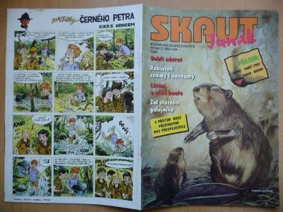 Časopis - Skaut - Junák - ročník 37. - číslo 8. z října roku 1994