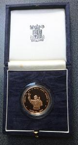 Kapverdy 100 escudo zlato 1990 Jan Pavel II Proof Km - 25b