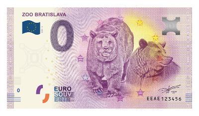 0 Euro souvenir bankovka 2019 - ZOO BRATISLAVA