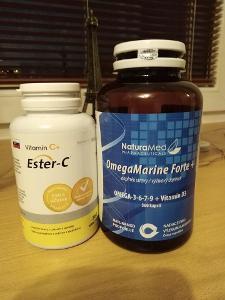 MarineForte + Omega 3 360 kapslí + dárek vitamin C