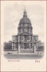 Paris * Dom des Invalides, architektura, Stengel * Francie * Z533