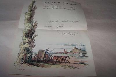 TELEGRAM r.1942 Plzeň /B146/