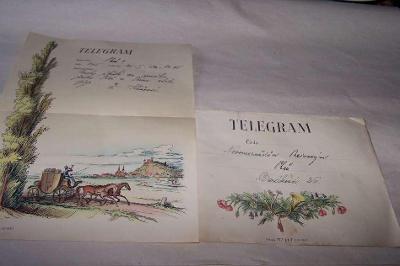 TELEGRAM + obálka r.1942 Plzeň /B146/