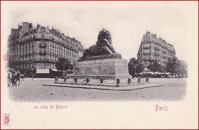 Paris * Le Lion de Belfort, socha, Stengel * Francie * Z1408
